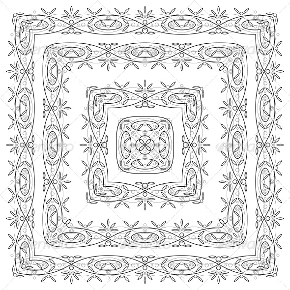 Abstract Pattern Frames - Borders Decorative
