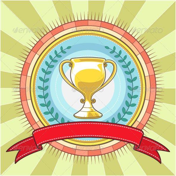 Champion Circle Badge Template