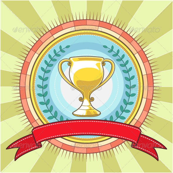Champion Circle Badge Template - Backgrounds Decorative