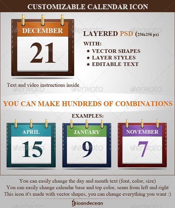 Customizable Calendar Icon