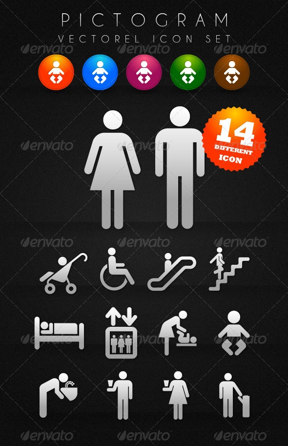 Pictogram Icon Set - Web Icons