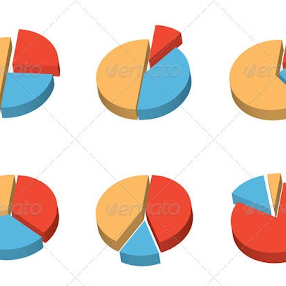 Set of 3D Round Diagrams