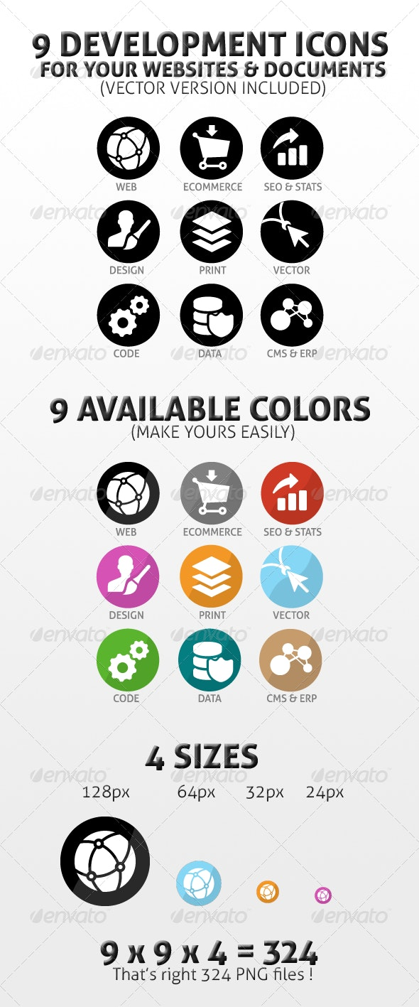 Development & Design Icons Pack - Web Icons