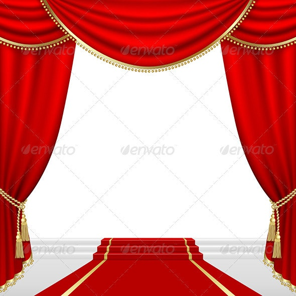 Theater Stage Mesh - Backgrounds Decorative