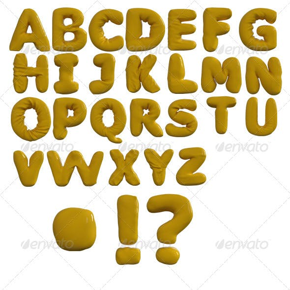 Inflated Letters Alphabet