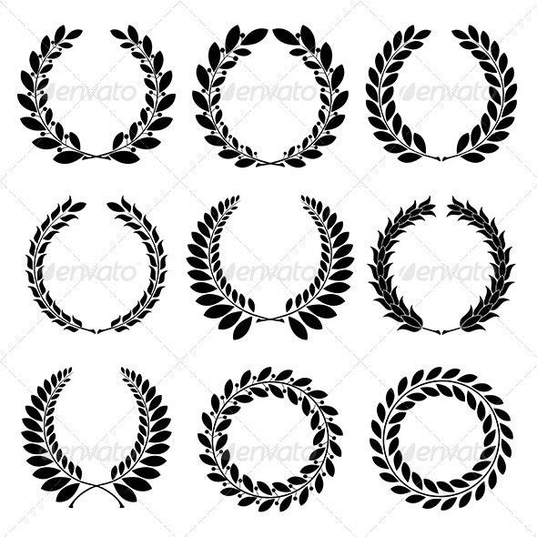 Laurel Wreath - Decorative Symbols Decorative