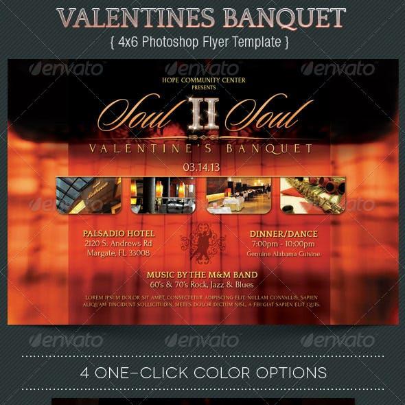 Valentines Banquet Flyer Template