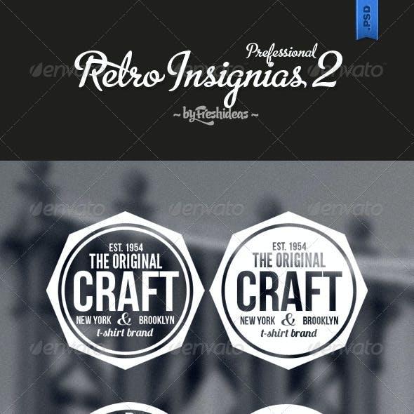 6 Retro Insignias - Badges & Banners