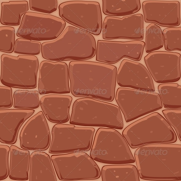 Brown Stone Seamless Background - Backgrounds Decorative
