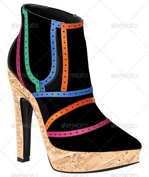 Vector Women's Footwear Autumn - Man-made Objects Objects
