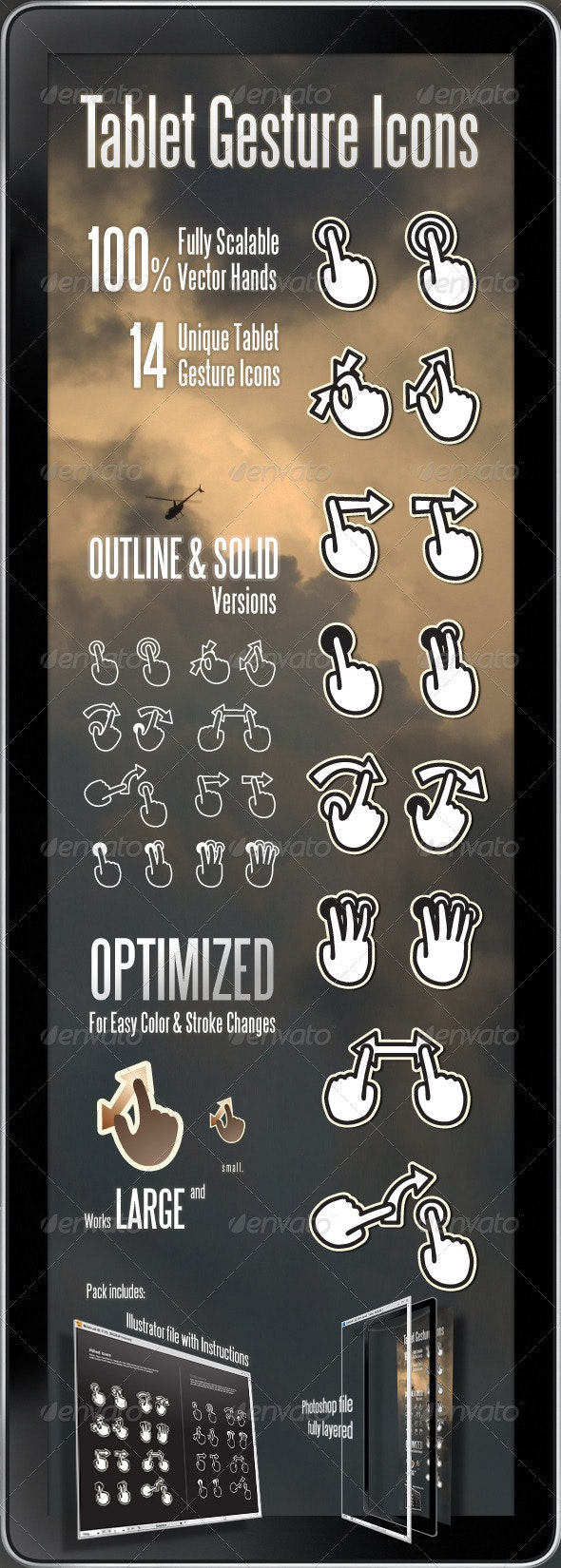 Tablet Gesture Icons - Objects Icons