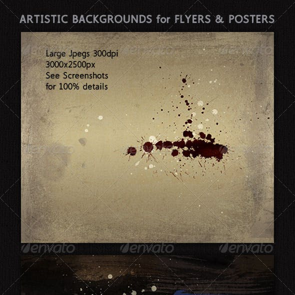 Abstract Art Graphics; 3 Background Paintings