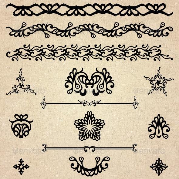 Flourishes 02 - Design Elements - Flourishes / Swirls Decorative