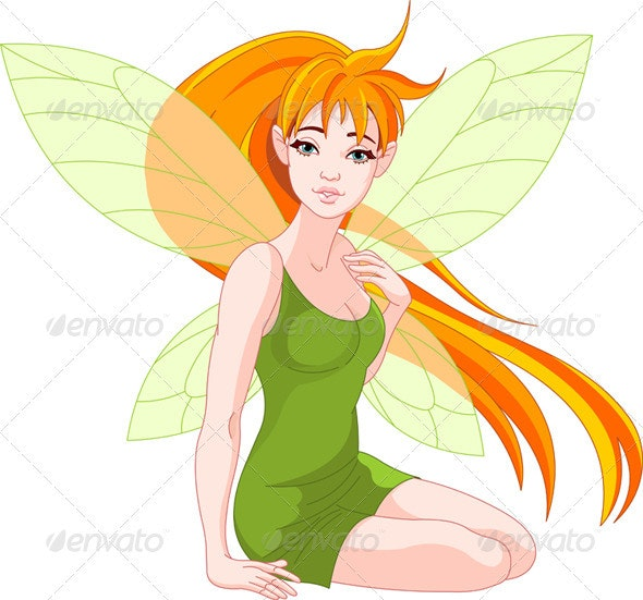 Young fairy - Characters Vectors