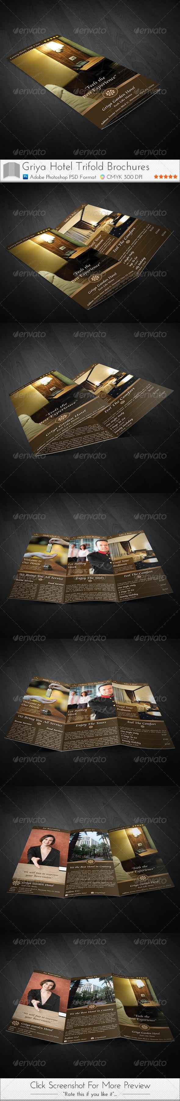 Griya Hotel Trifold Brochure - Brochures Print Templates