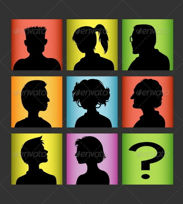 Avatar Silhouette Set - People Characters