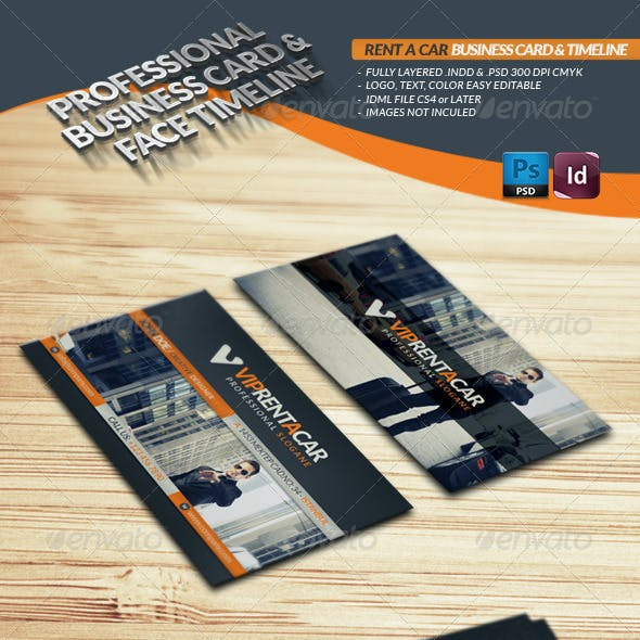 Rent A Car Business Card & Face Timeline