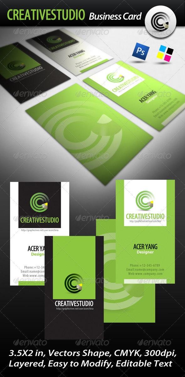 Creative Studio Business Card - Corporate Business Cards