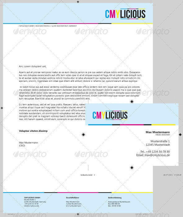 Business Letter & Business Card, CMYLICIOUS - Stationery Print Templates