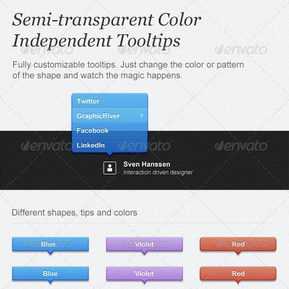 Semi-transparent Color Independent Tooltips