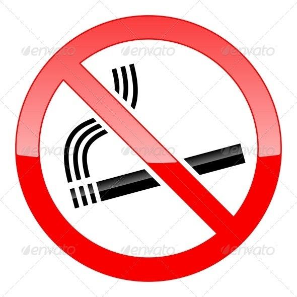 No Smoking Sign - Decorative Symbols Decorative