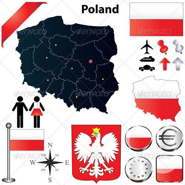 Poland Map - Travel Conceptual