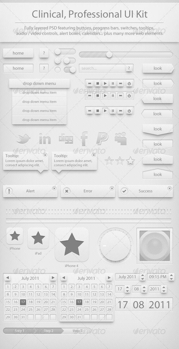 Clinic UI Kit - User Interfaces Web Elements