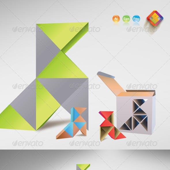 3D Style Vector Rubik's Birds