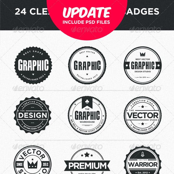 24 Clean and Modern Badges