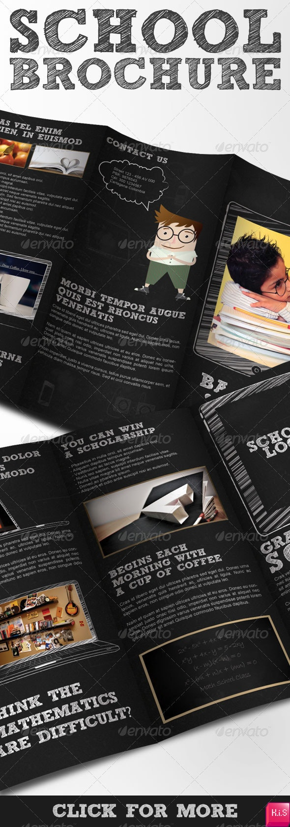 School Brochure - Tri-Fold Brochure - Corporate Brochures