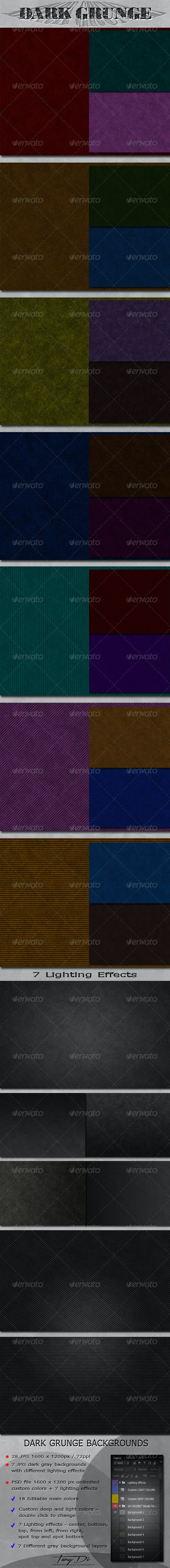 Dark Grunge Backgrounds Pack - Miscellaneous Backgrounds