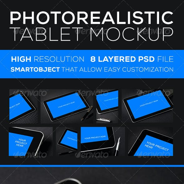Photorealistic Tablet MockUP