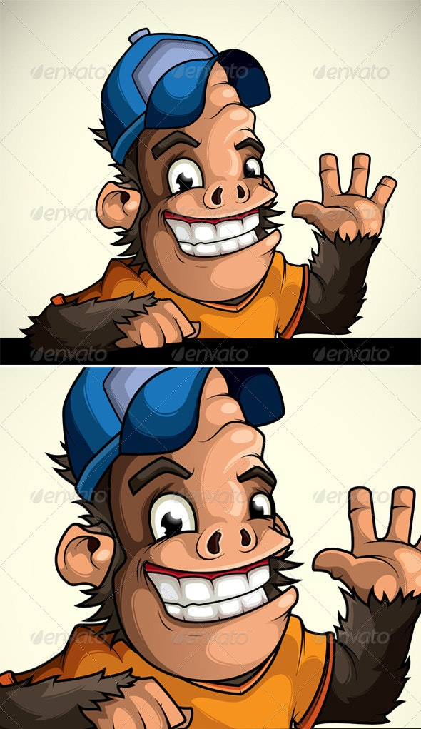 Monkey in the Cap of Welcomes - Characters Vectors