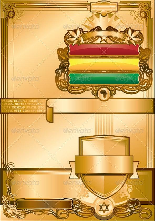RasTafari Regal Poster Template - Backgrounds Decorative