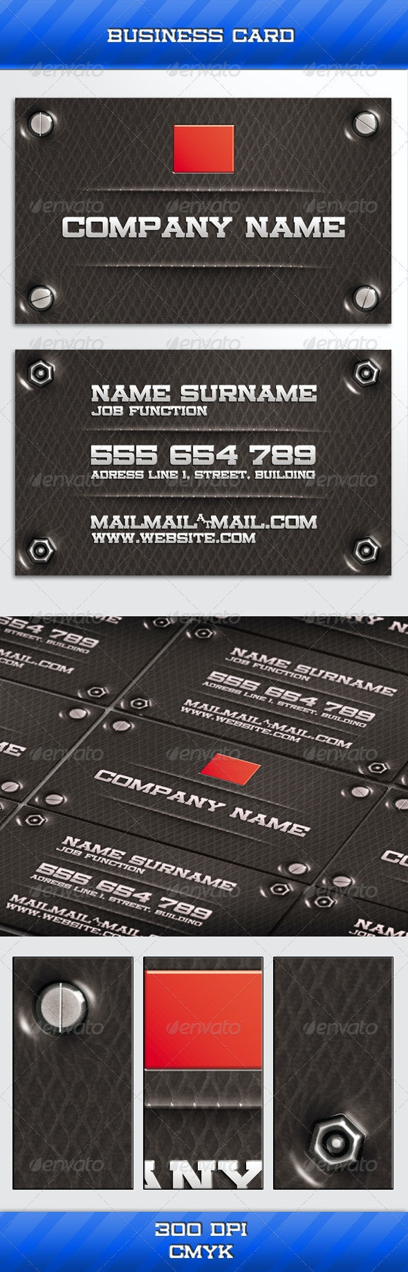 Hard Business Card - Grunge Business Cards