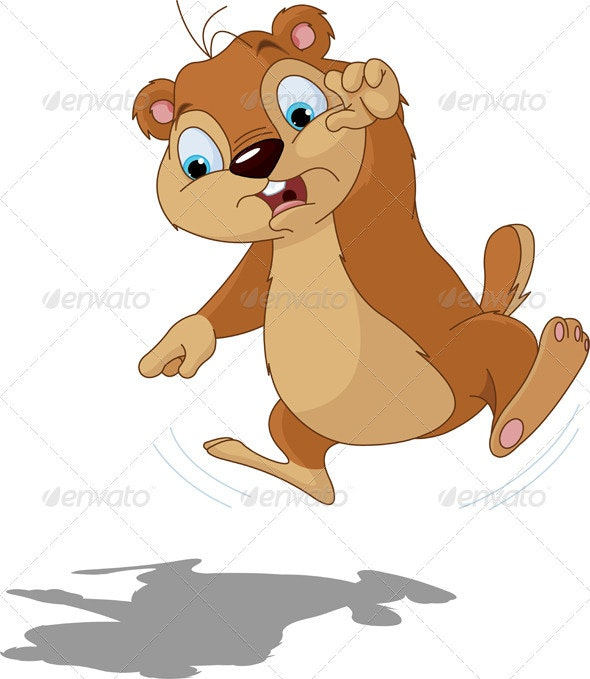 Groundhog scared of their shadow - Animals Characters