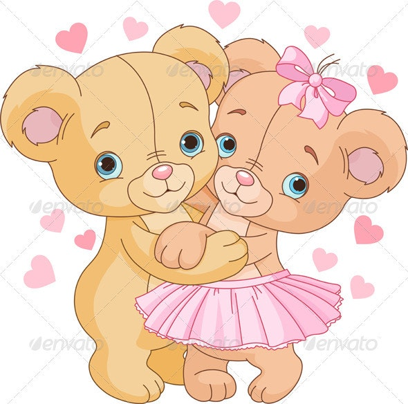 Teddy Bears in Love - Animals Characters
