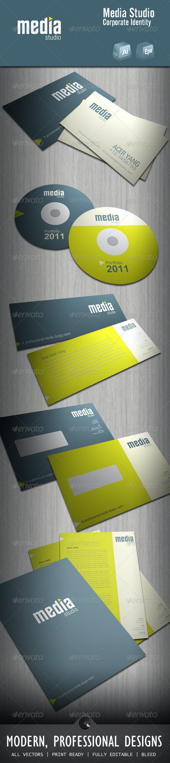 Media Studio Corporate Identity - Stationery Print Templates