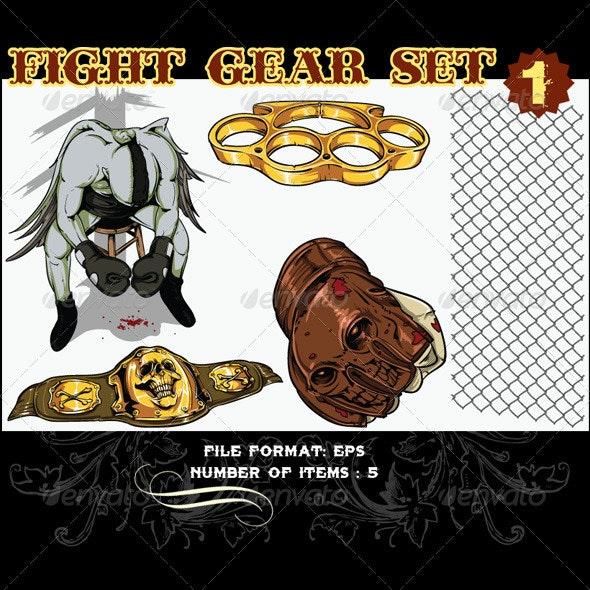 Fight Gear Vector Set 1 - Vectors