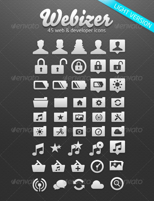 Webizer Vector Icons - Objects Vectors