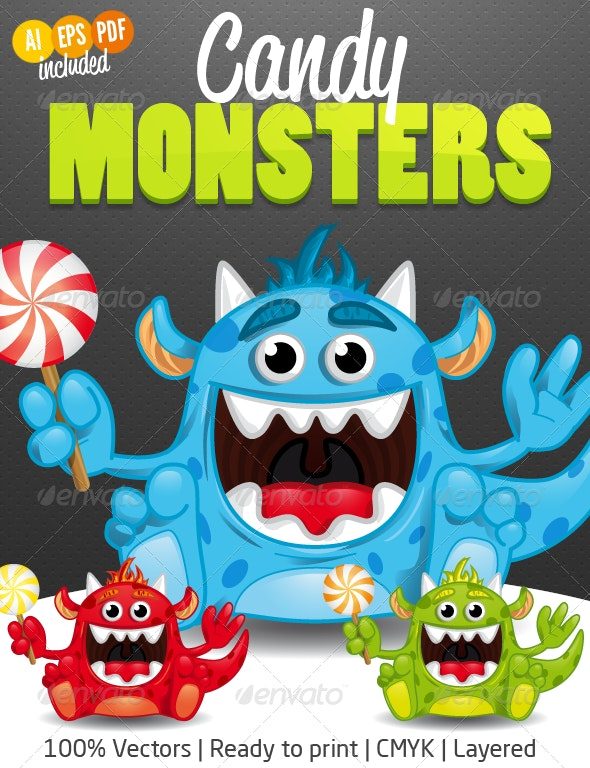 Candy Monsters - Monsters Characters