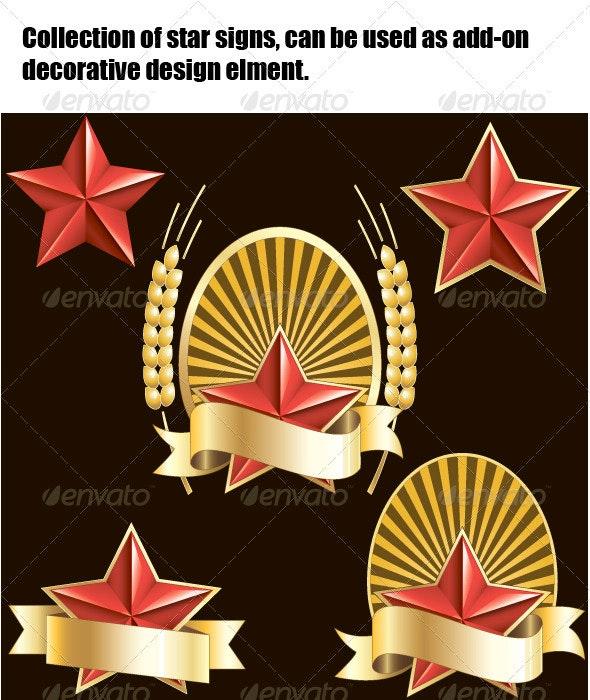 Collection of Star Sign - Decorative Symbols Decorative