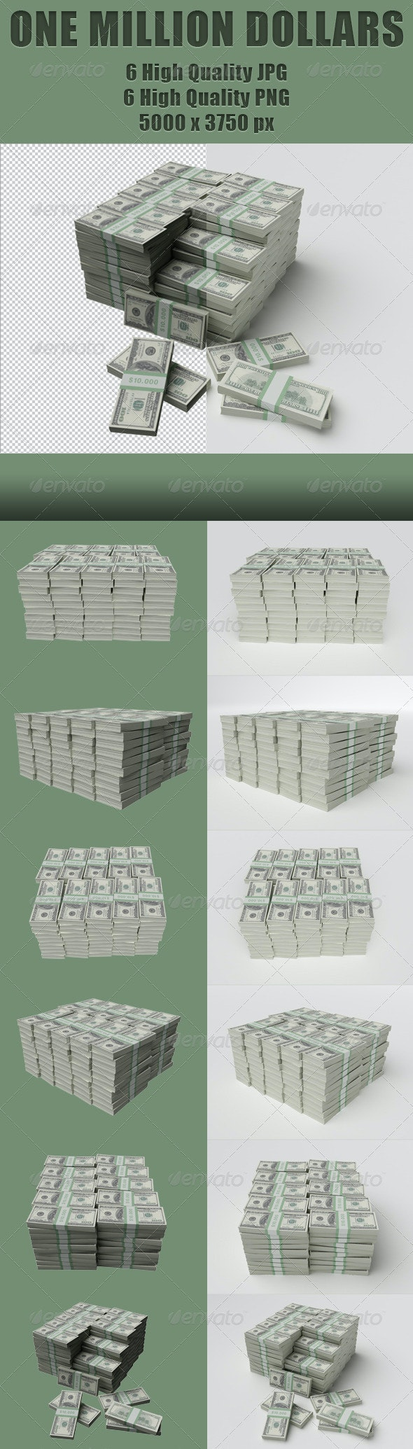 One Million Dollars - 3D Renders Graphics