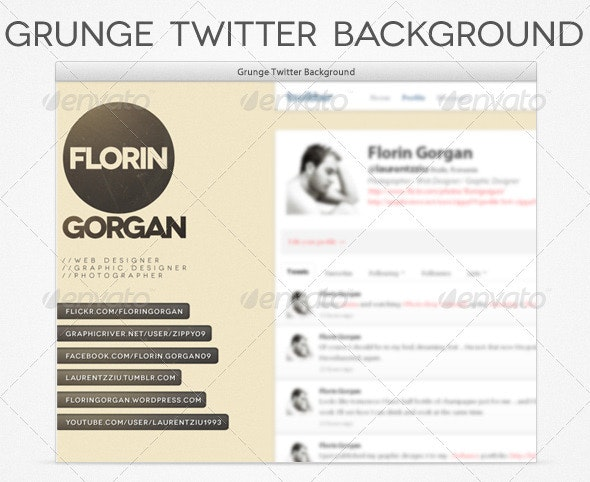 Grunge Twitter Background - Twitter Social Media