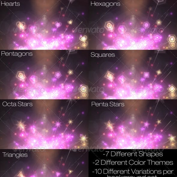 Abstract Custom Shaped Rainbow Backgrounds Pack