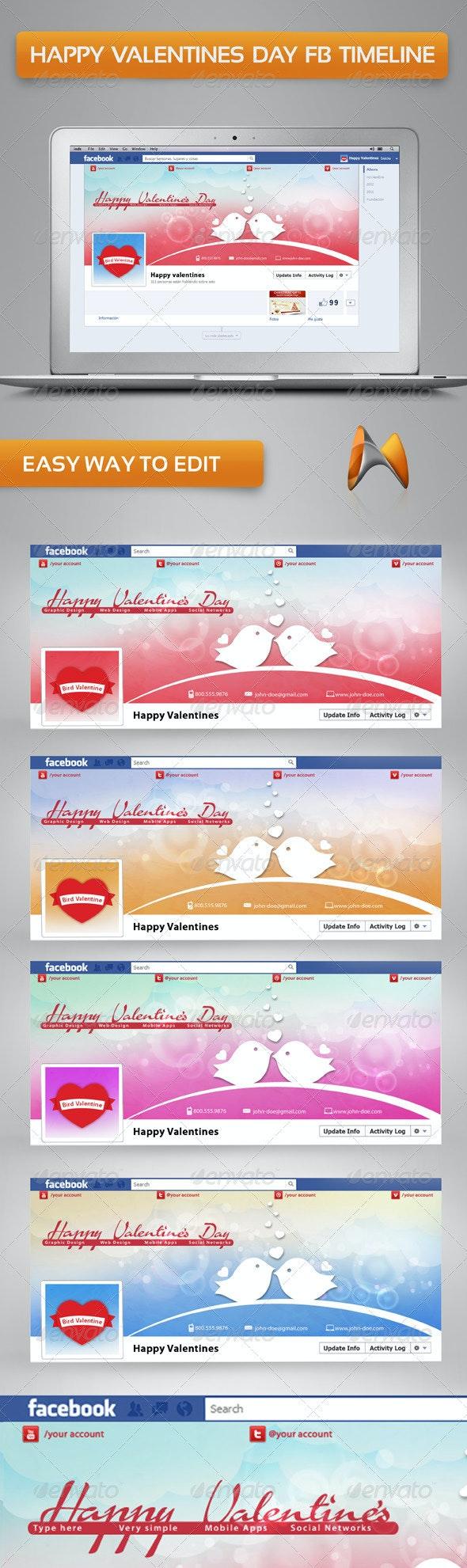 Happy Valentine's Day Timeline Cover - Facebook Timeline Covers Social Media