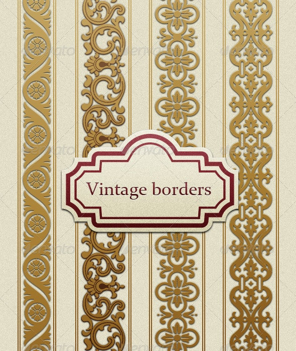 Vintage Borders  - Borders Decorative