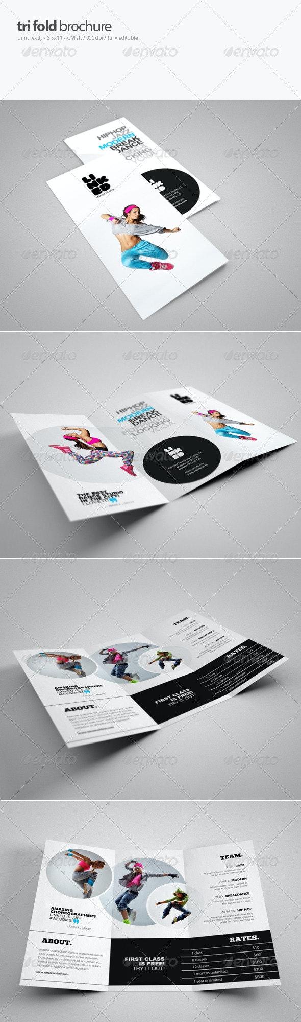 Dance Studio Brochure 3 - Brochures Print Templates