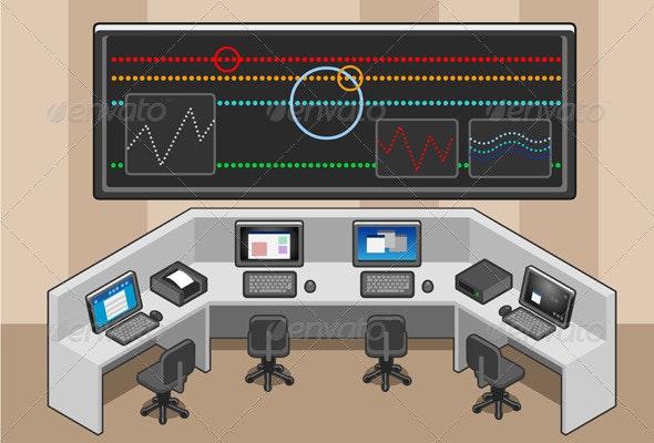 Isometric Controll Center - Miscellaneous Vectors