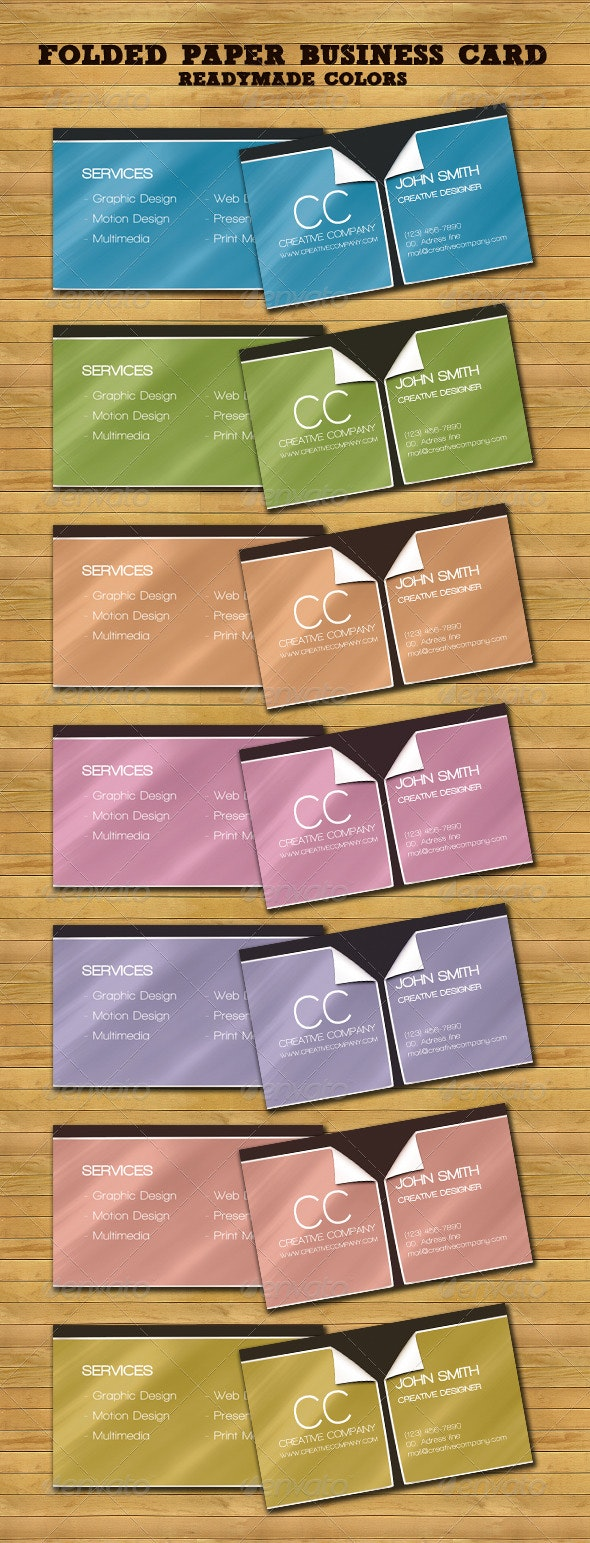 Folded Paper Business Card - Creative Business Cards